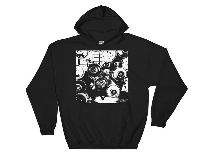WKid Black Hooded Sweatshirt | Graffiti Cans