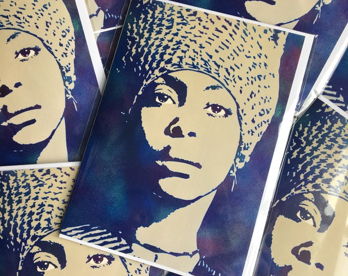WKiD Greeting Card | Erykah Badu