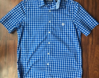 WKiD V&T   Checkered Chaps Button Down
