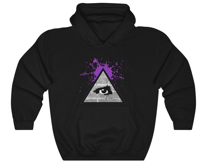 WKiD Hooded Sweatshirt | Third Eye/Illuminati (Purple)