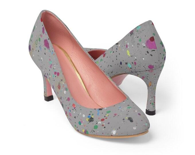 WKiD High Heels | Paint Splatter
