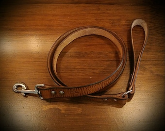 Antiqued Leather Dog Leash