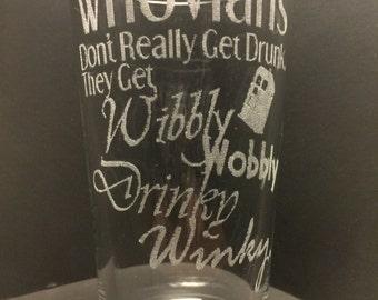 Whovian Glass