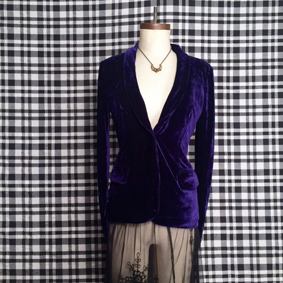 Velvet Purple Blazer