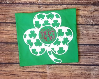St Patrick's Day Monogram t-shirt