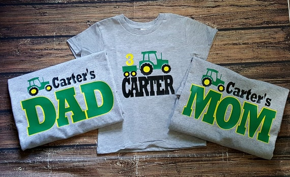Tractor Mom Dad Of The Birthday Boy Shirt
