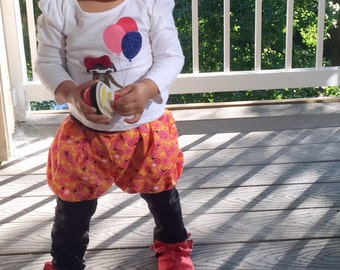 Toddler girl / baby girl ladybug bubble pants // made to order