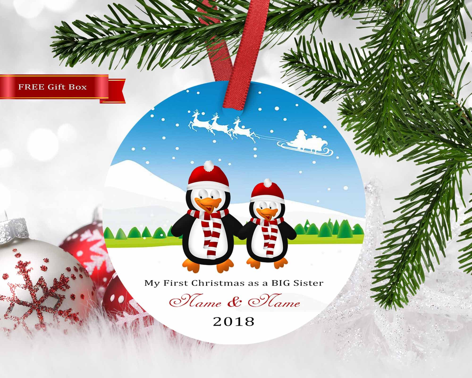 first christmas as big sister ornament housewarming gift married our