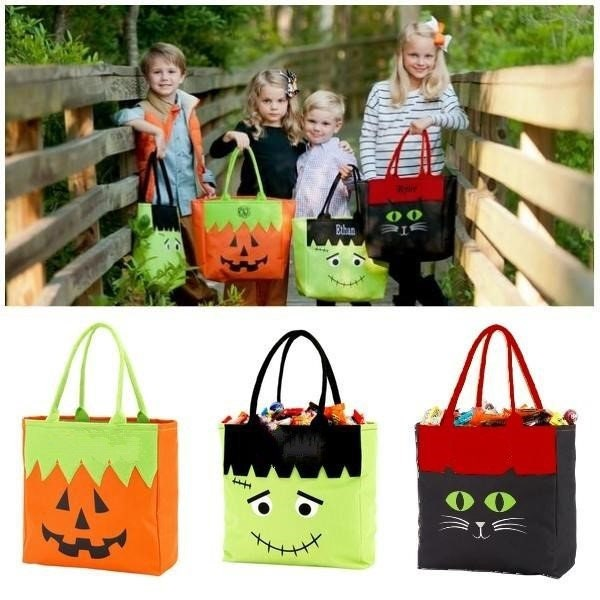 monogrammed halloween totes personalized embroidered and monogram candy bags embroidered halloween bags free personalization