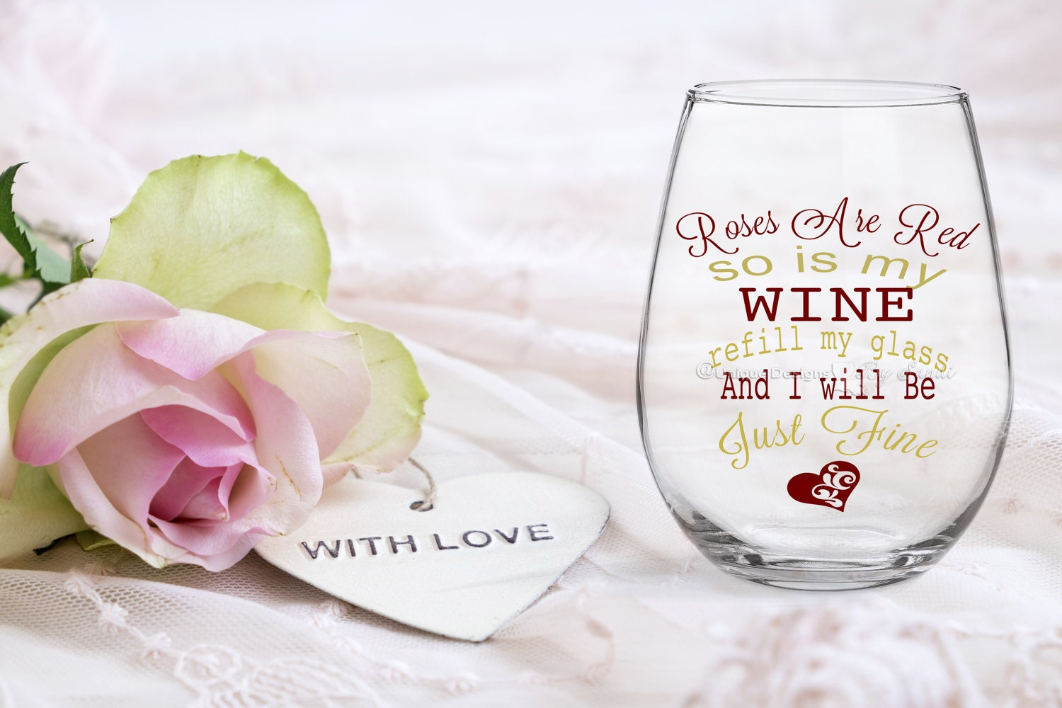 Valentine S Wine Glass All You Need Is Love And Wine Valentine S