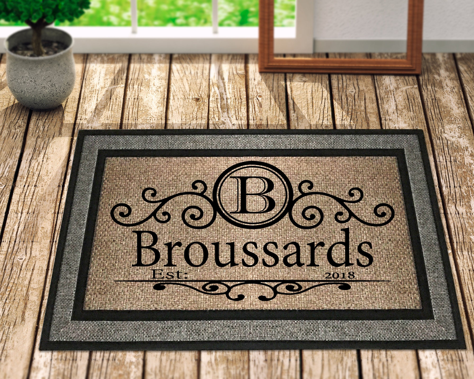 Custom doormat personalized doormat door mat personalized door mat welcome doormat custom welcome mat front door mat family door mat