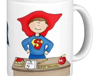 Personalized  teacher mug, 'I am a teacher What's your Superpower', Personalized Teacher Coffee Mug, Personalized Gift, Gift for teacher,