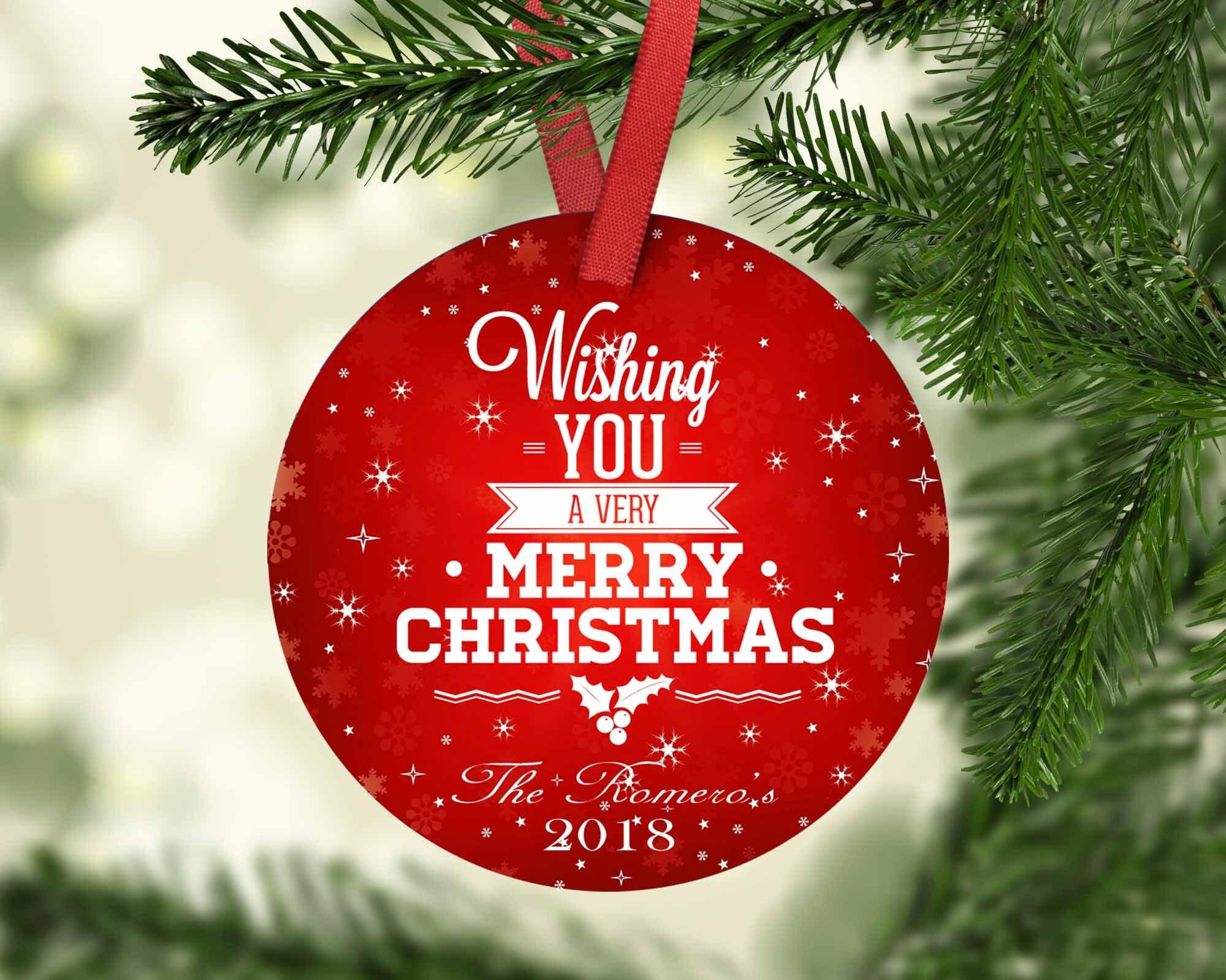 Merry Christmas,Housewarming Gift,Ornament,Christmas,Custom Ornament ...