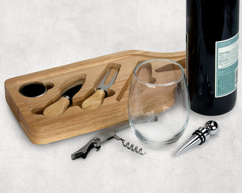 Personalized gift,closing gift Personalized wine and cheese set Housewarming gift Realtor gift Cheese board Wedding gift