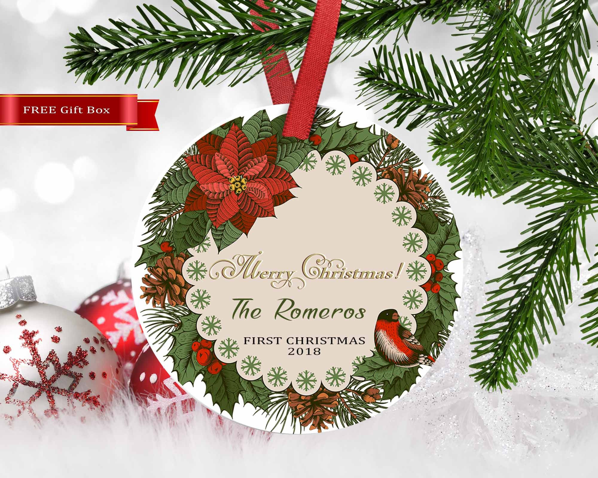 Christmas Ornament,Housewarming gift,New home ornament,custom ...