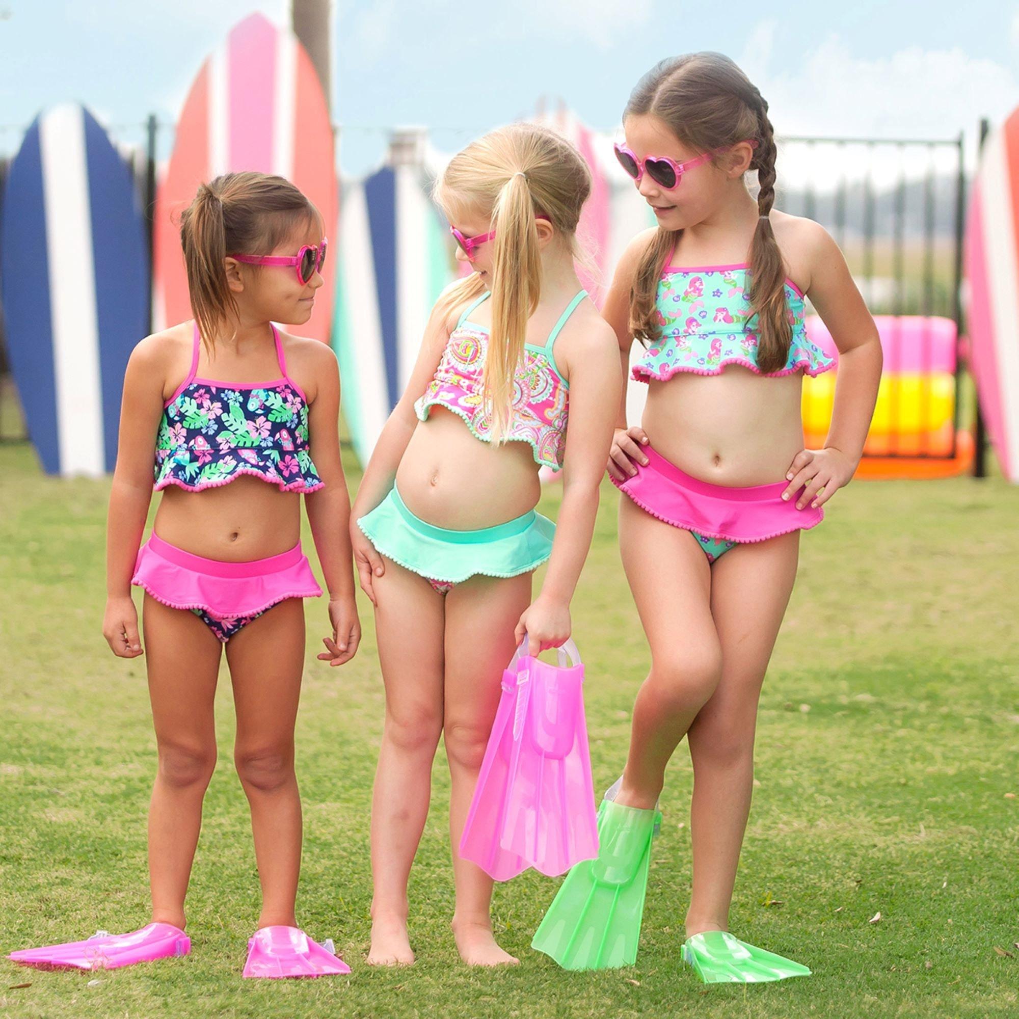 Girl/'s Swim 2 Piece Set Personalized Girls Suit Monogrammed Girls Bikini Swim Suit Set