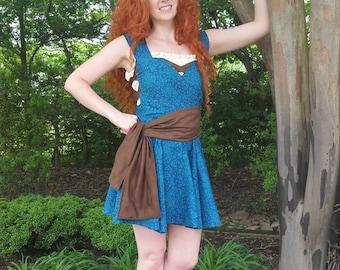 Original Design Disney Princess Merida Brave Inspired Disney Bound Summer Dress (Please Read description)
