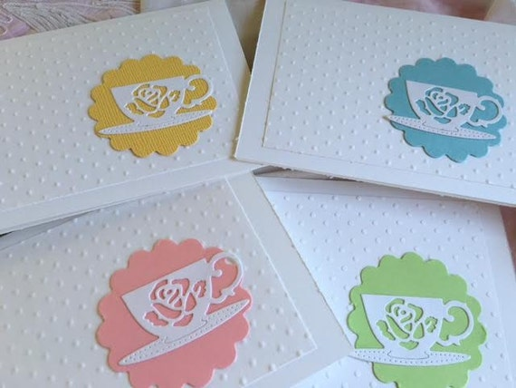 Teacup Cards Thank You Cards Bridal Shower Blank Cards