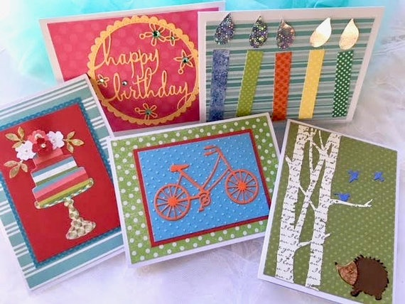 Birthday Card Set Birthday Assortment Birthday Cards Handmade