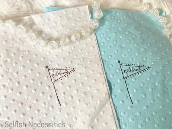 Celebrate Napkins Birthday Party Baby Shower Wedding First Retirement Graduation By Selfish Necessities Catch My