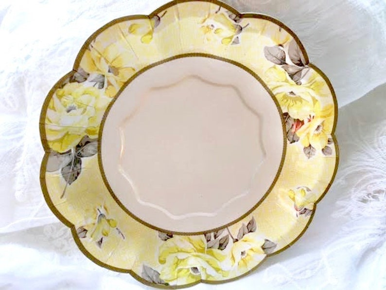 Party Plates Cake Plate Paper Plates Bridal Shower Tea Party Vintage Theme Baby Shower Dessert Plate Wedding Floral Plates