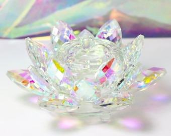 Crystal Lotus Dappen Dish with Lid for Acrylic Monomer