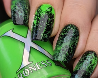 Voltage - Neon Green Creme Nail Polish (Fluid Art Mixer, DOES NOT contain the activator to make cells, formulated to use w/ fluid art)