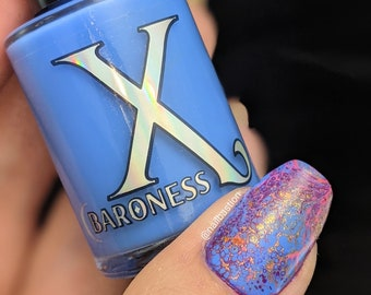 Gogh - Cornflower Blue Creme Nail Polish (Fluid Art Mixer DOES NOT contain the activator to make cells, formulated to use w/ fluid art)