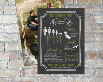 Chalkboard Infographic Holiday Card {Multiple Color Options} {Digital File}