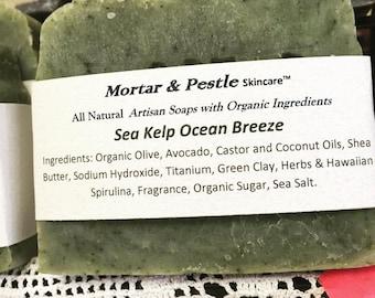 Natural Handmade Soaps- Sea Kelp Ocean Breeze
