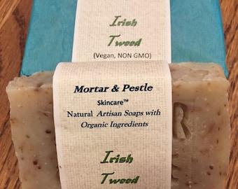 Natural Handmade Soaps - Irish Tweed soap