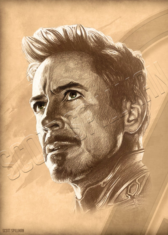 Tony Stark 11 x 14 print image 0
