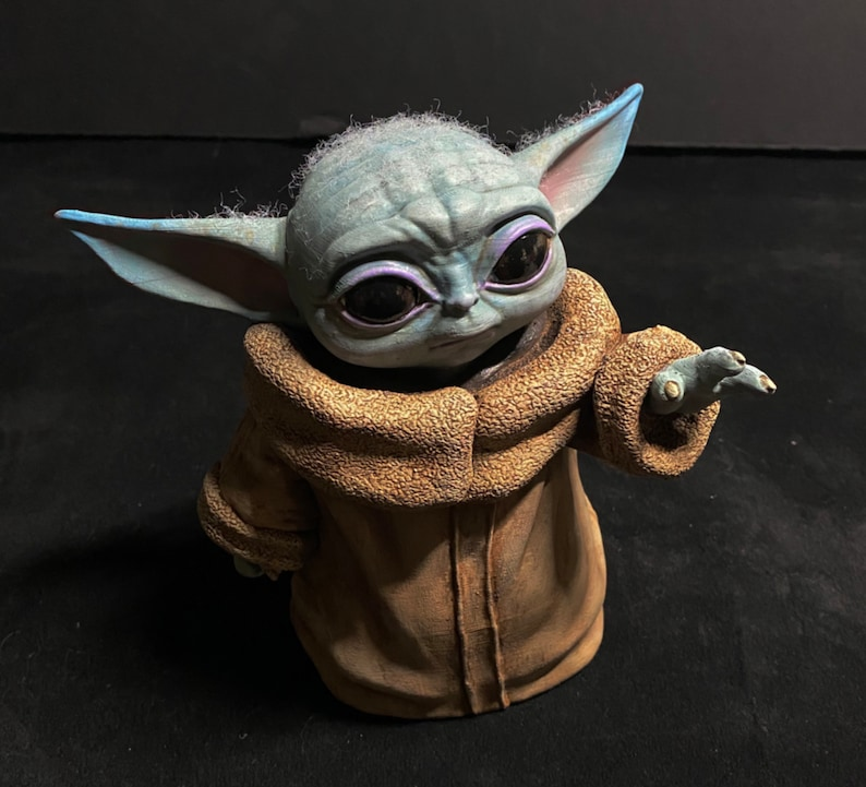 Baby Yoda hand painted figure image 0