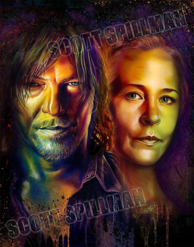 Daryl & Carol 11 x 14  Walking Dead poster image 0