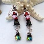 VENUS if you WILL, Venus Flytrap Earrings, Insect Jewelry, Bug Jewelry, Venus Flytrap, Dangle Earrings, Long Earrings, Twinkling Of An Eye