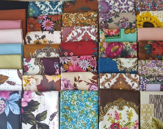 Featured listing image: Outback Wife Barkcloth Fat Quarter Set
