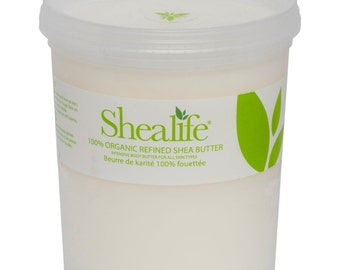 Shea Life 100%  Organic Refined Shea Butter, 1KG, 5KG, 10KG & 25KG