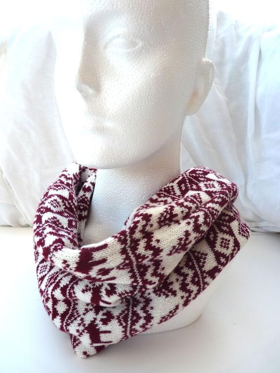 Punto Reno bufanda color rojo punto bufanda de Navidad | Etsy