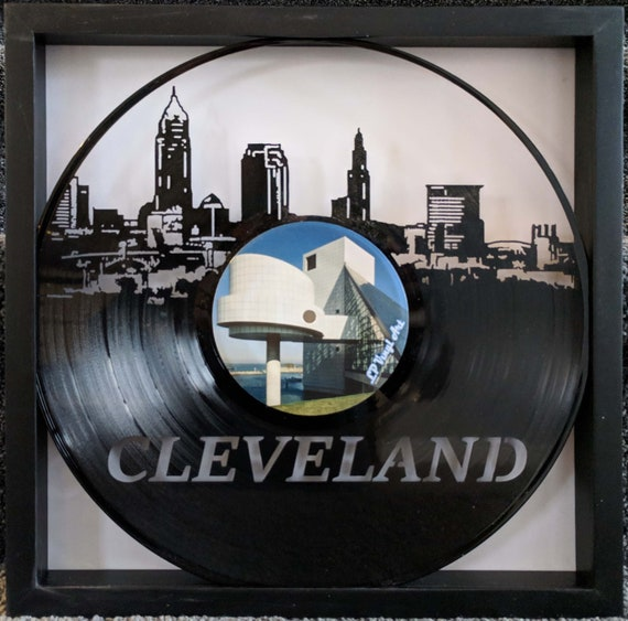Seattle Skyline Vinyl Record Art