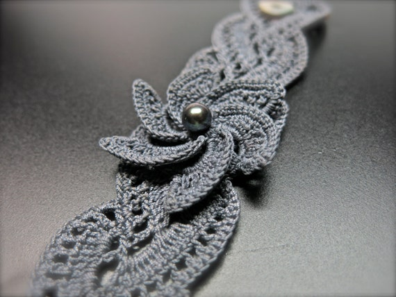 Neu Sie Gehäkelte Blume Armband Perle Häkeln Armband Etsy