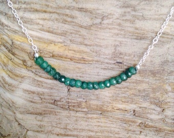 Great Expectation Emerald swing necklace