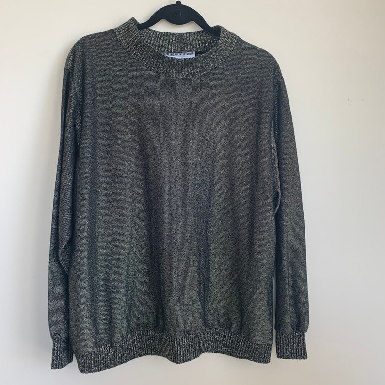 Gold and Black Shimmer Sweater