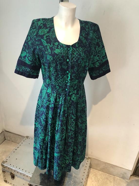 Marion Donaldson Foliage Print  seventies dress 12