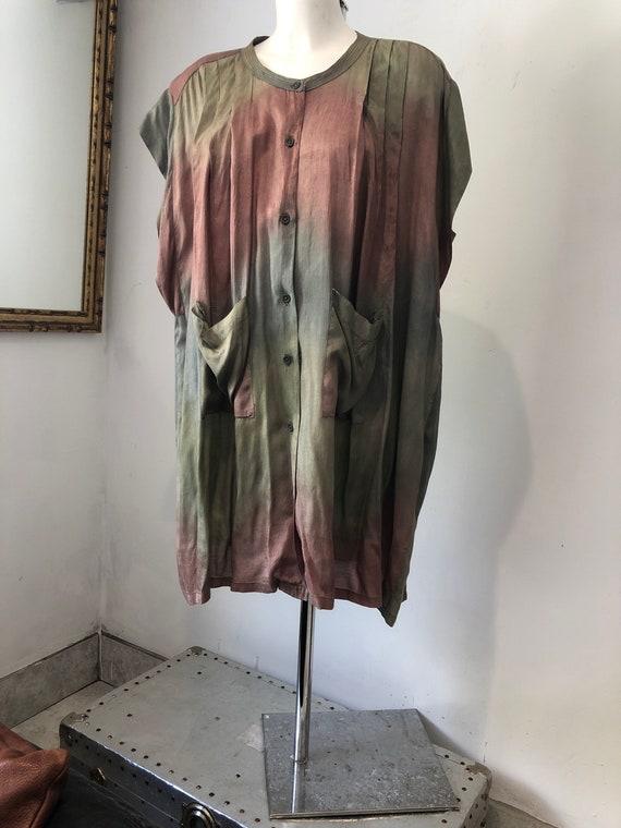 Vintage Phool Tye Dye Eighties Shirt Dress