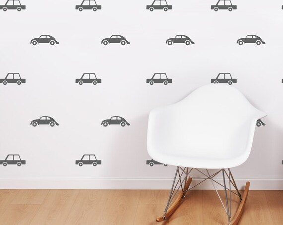 Transportation Town Wall Decals Cars Wall Stickers Vehicles Baby Boy Room City Decor for Kids Customized Nursery Express Makeover #cars003