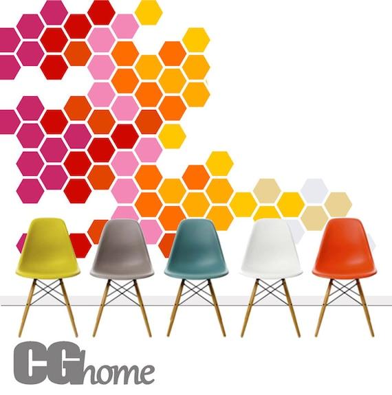 Nursery Wall Decals Honeycomb Wall Decor Hexagon Geometric Pattern Rainbow Baby Room Decals Self Adhesive Wall Stickers Headboard