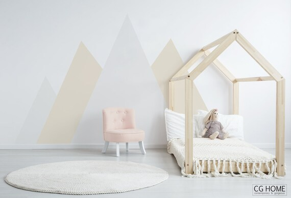 Mountain Wall Decal Baby Room Decor Nursery Crib Pattern for Kids Toddlers Baby Boy Room Girl Woodland Forest Wall Stickers #mountains036