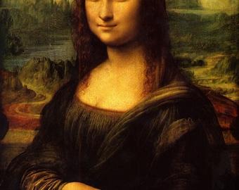 Leonardo da Vinci, Mona Lisa, Linen Canvas Oil Painting Reproduction, Mona Lisa By Leonardo Da Vinci, Handmade