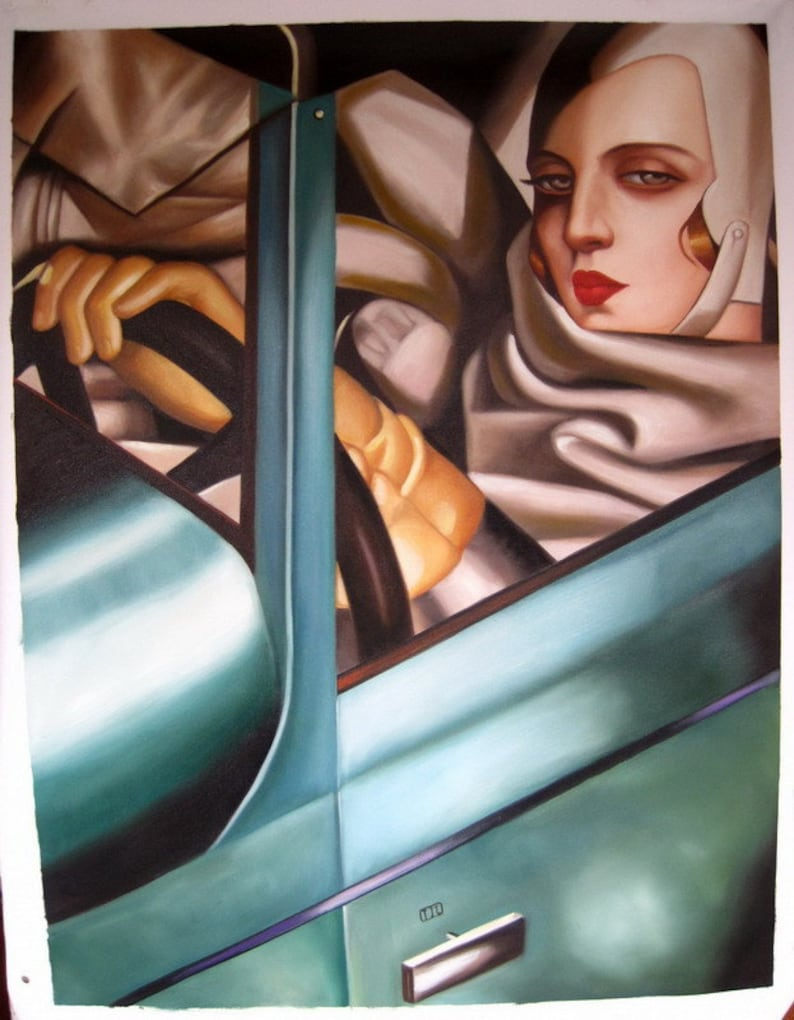 tamara de lempicka tamara in the green bugatti self | etsy