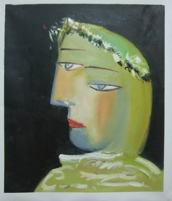 94b5fd4443b81 Pablo Picasso, Portrait de Marie Therese, Oil Painting Reproduction on  Linen Canvas, Handmade Quality